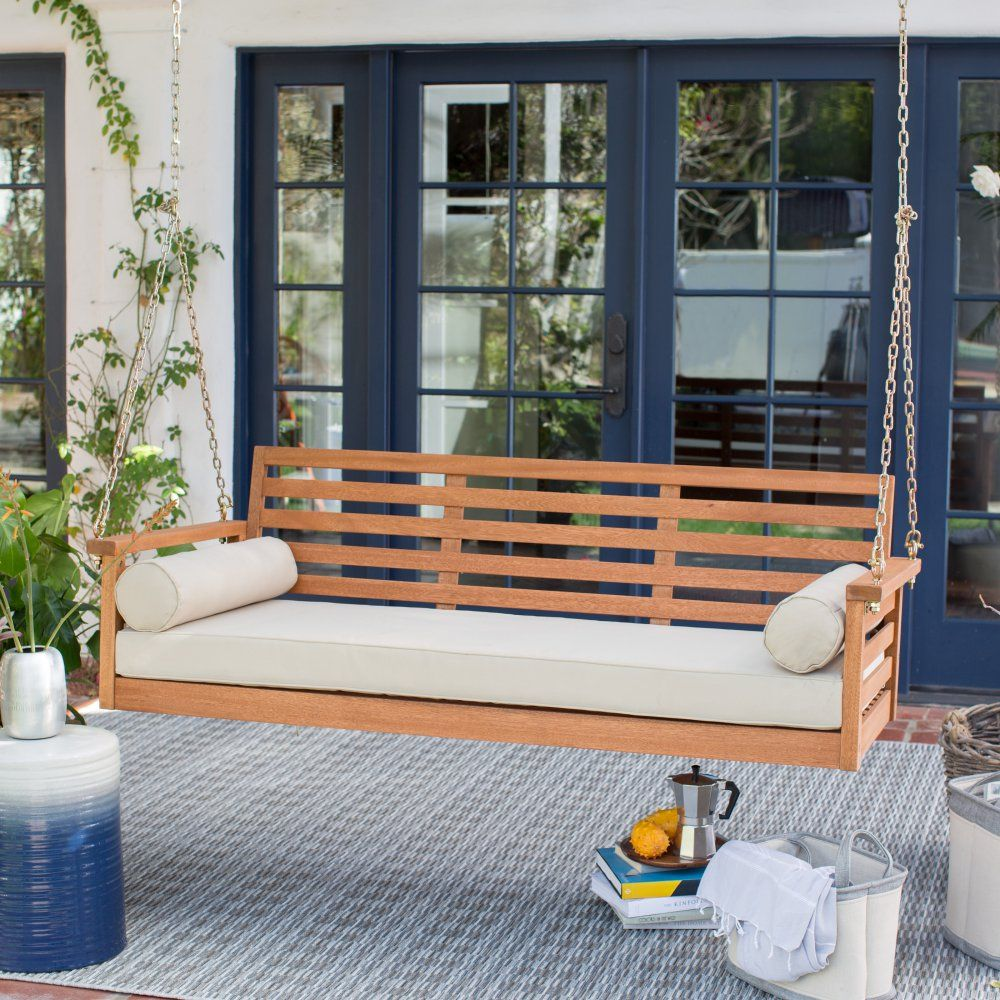 Belham Living Brighton Deep Seating 65 in. Porch Swing Bed ... on Belham Living Brighton Outdoor Daybed  id=47867