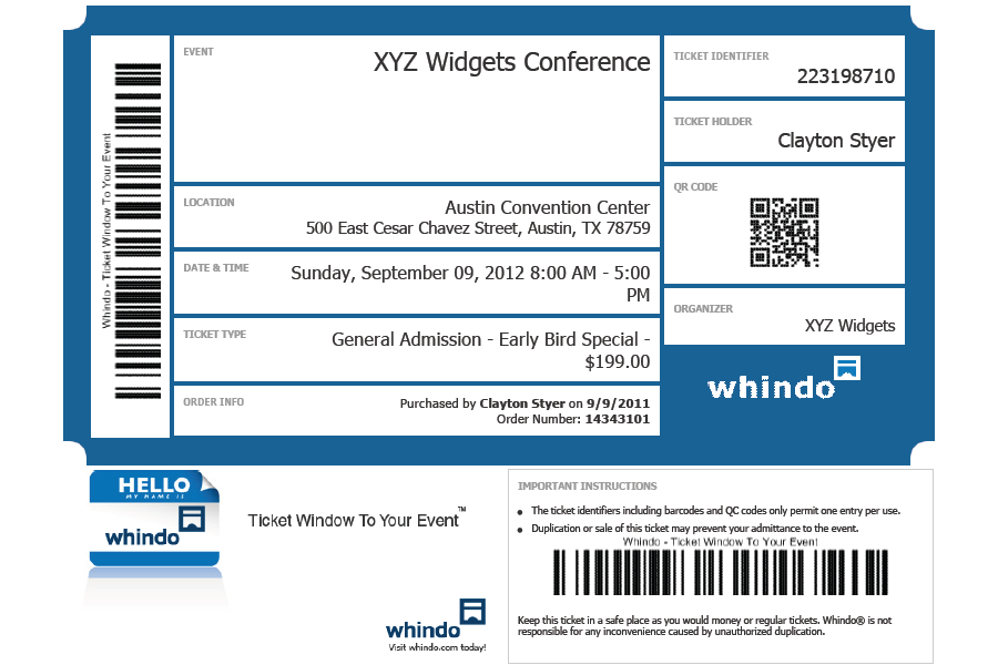Take the Tour Whindo Event Registration Software