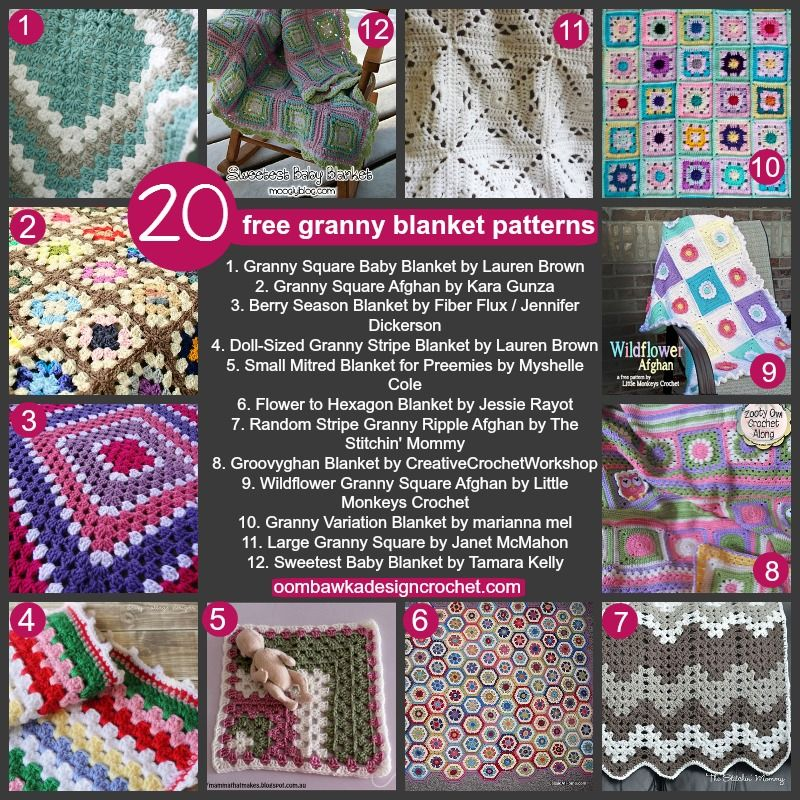 20 Free Granny Blanket Patterns | Manta, Ganchillo y Ideas de ganchillo