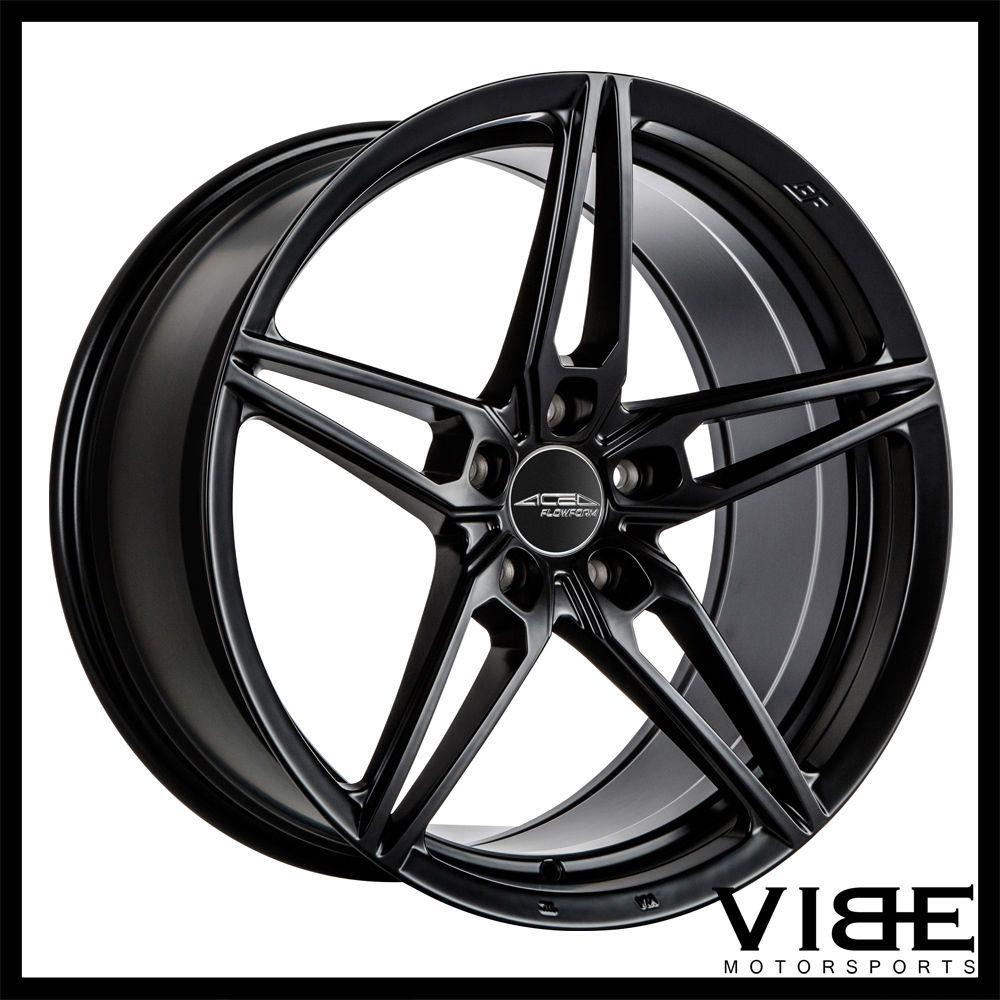 Details about 19 ace aff01 flow form black concave wheels rims fits infiniti q50 sedan