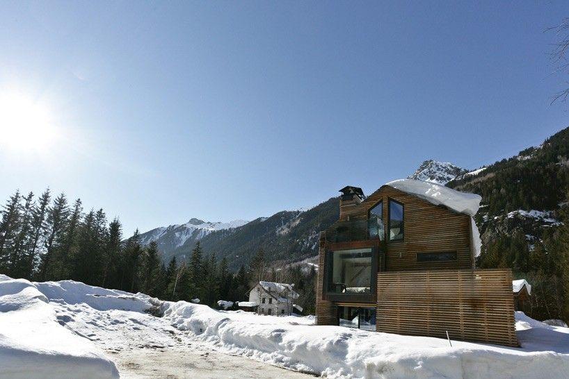 chevallier architectes' chalet captures panoramic views of mont blanc, chamonix