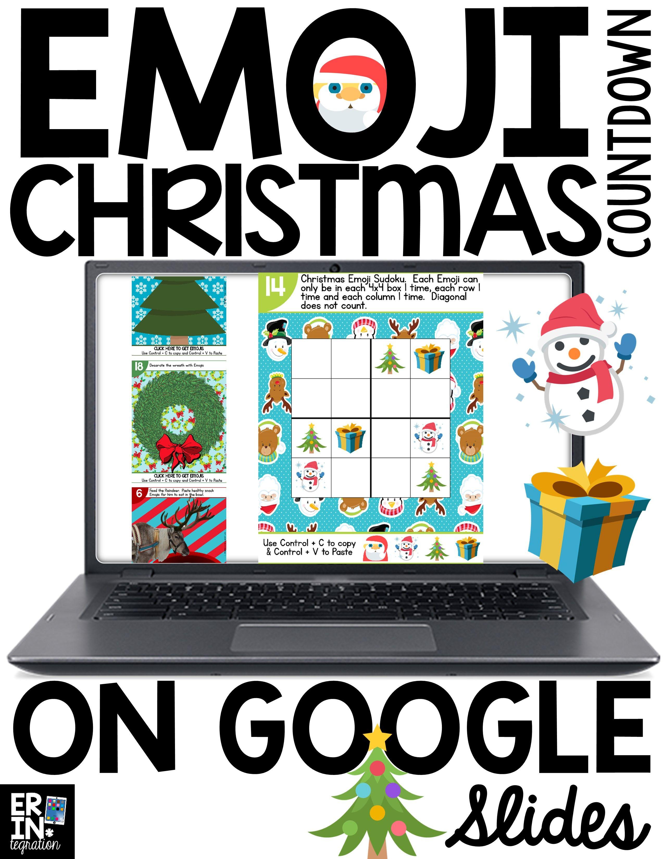 google slides emoji christmas countdown pinterest calendar