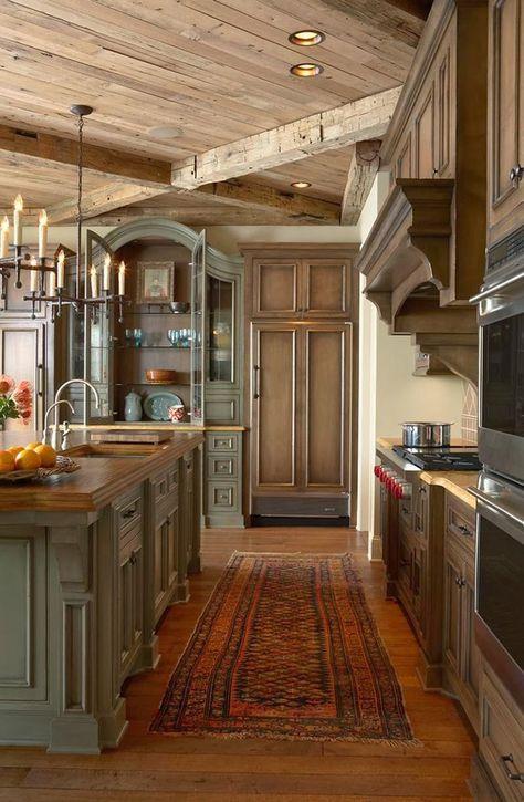 elegant-rustic-kitchen.jpg (800×1225)... | Design insight ...