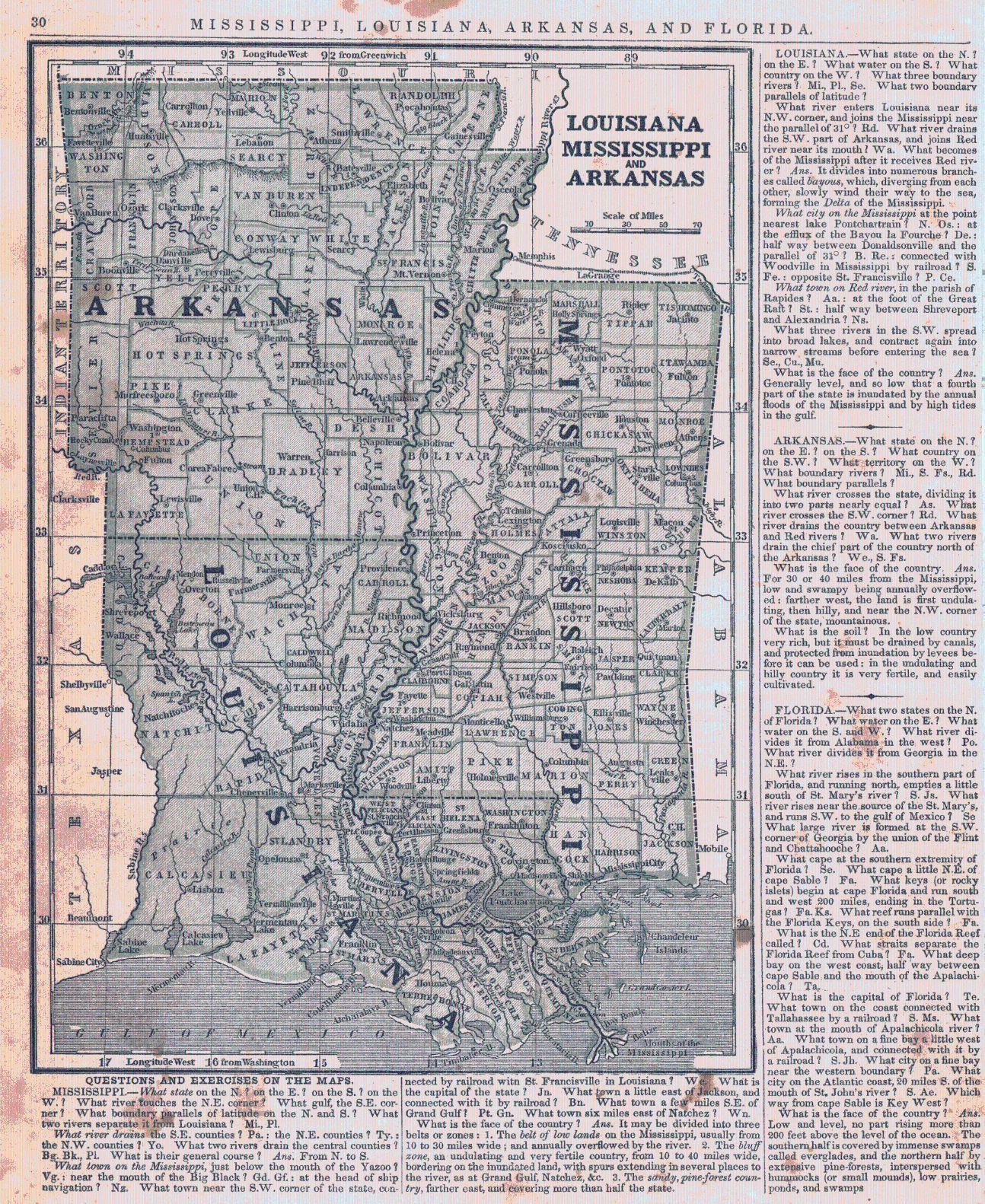 Louisiana Mississippi and Arkansas Harper Brothers Morse