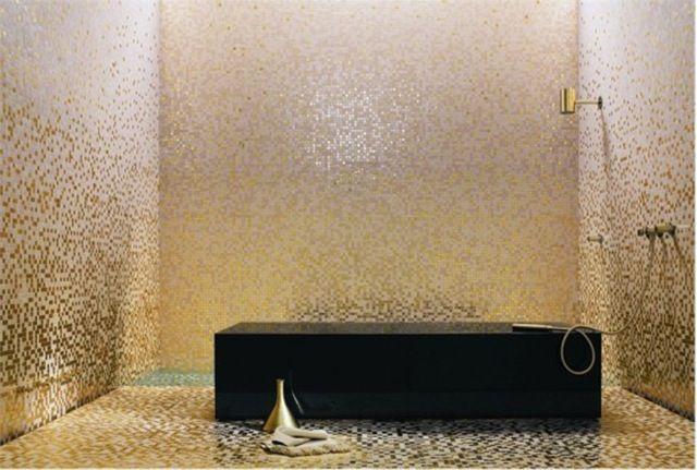 Shower Love The Gold Tile