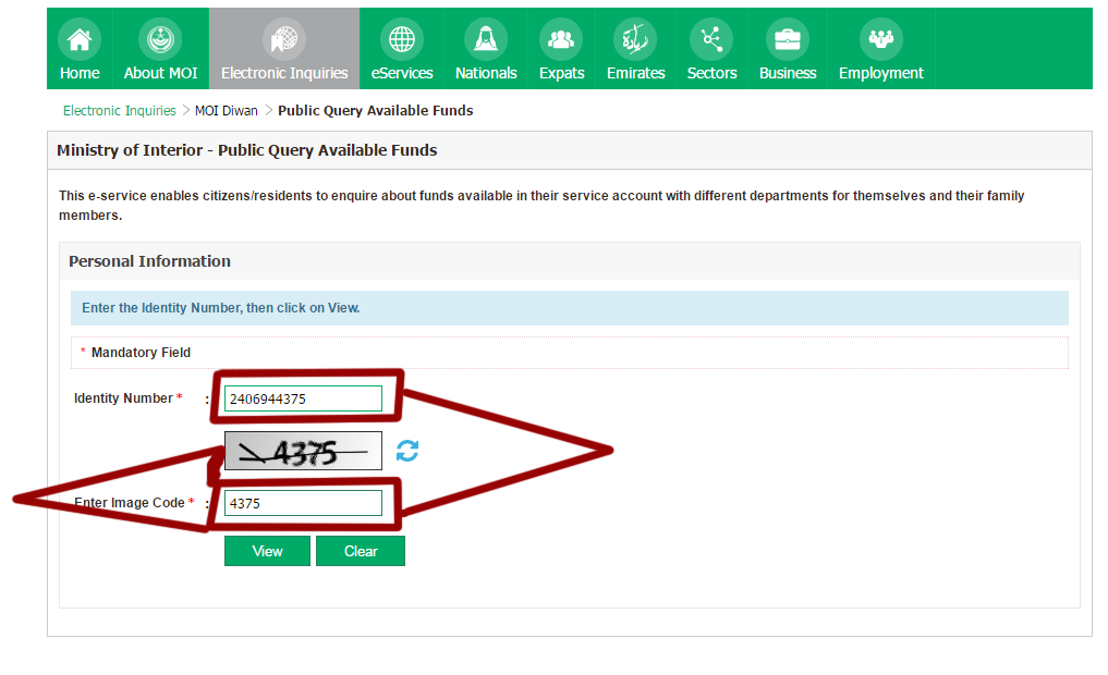 How To Check Funds Available In Your Name And Iqama Number