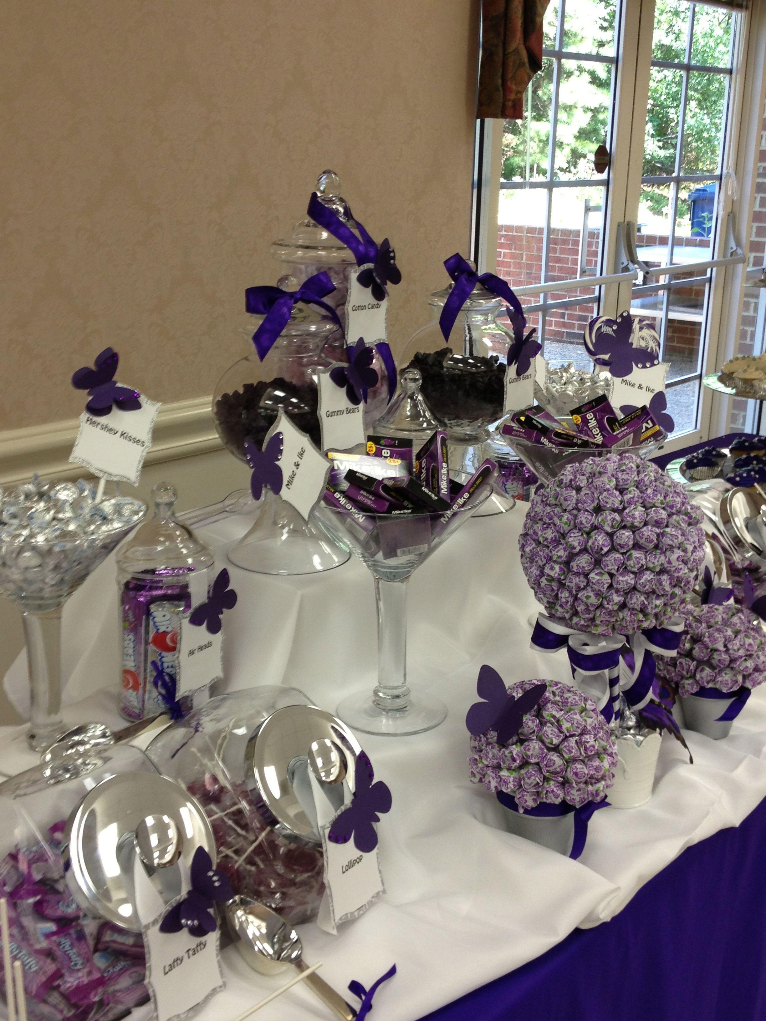 Butterfly Themed Buffet Sweet Bar Candy Buffet Dessert Table
