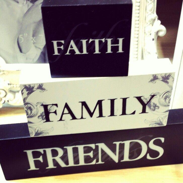 Family faith friends