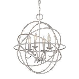 Kichler Vivian 1902 In 4 Light Brushed Nickel Globe Chandelier 34713 Chandeliers For Dining RoomKitchen