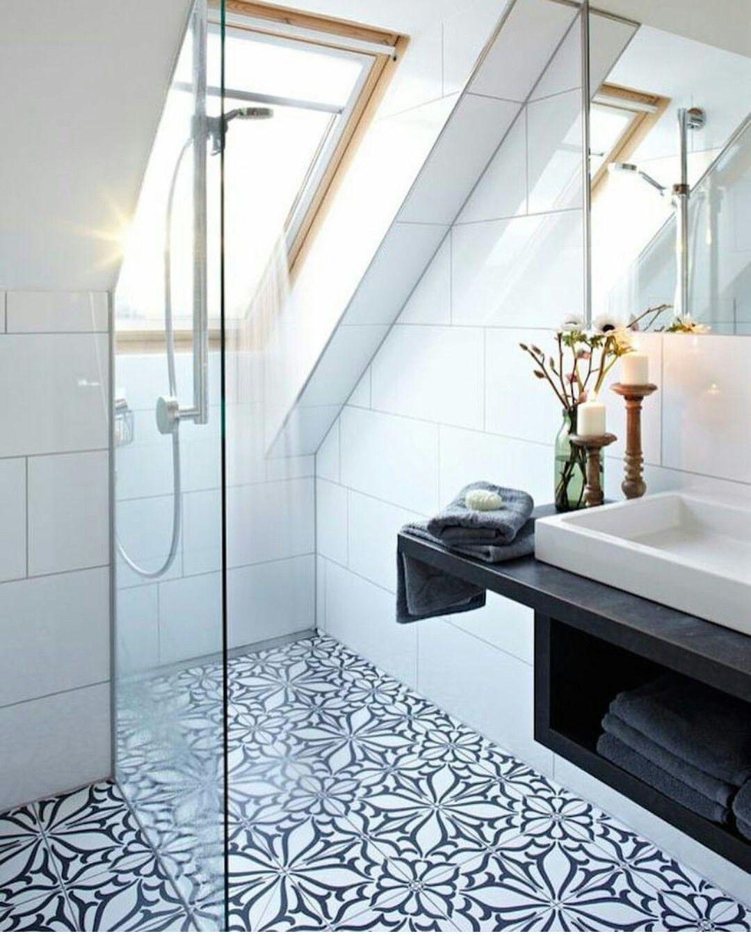 Pin By Andy Florer On Bathroom Attic Shower Small Attic Bathroom Bathroom Design