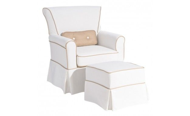 Sillón y puff Grädde -Exquisito sillón con puf a juego de la ...