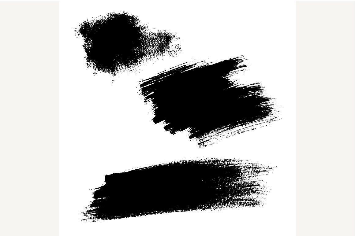 Set Of Ink Brush Stroke Vector Ink Brush Brush Stroke Vector Brush Strokes