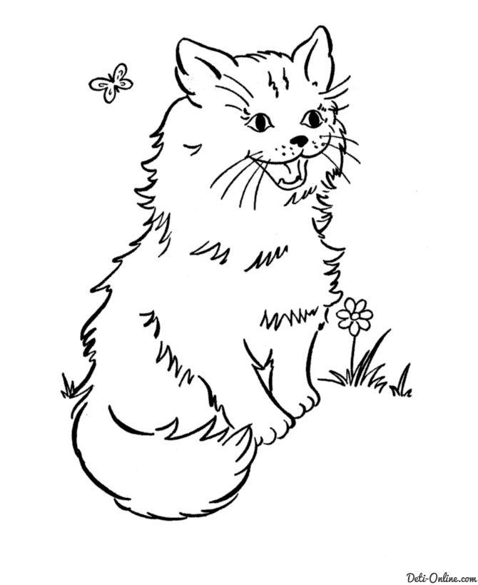 Собаки кошки раскраски | Punch Needle Patterns | Pinterest