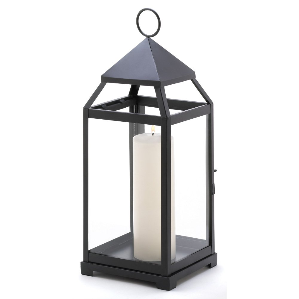 Black Candle Lantern Contemporary Decor Outdoor Lanterns For Candles Large Walmart Com In 2020 Large Candle Lanterns Candle Lanterns Metal Candle Lanterns