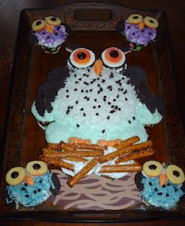 Owl And Owlet Cupcake Pull Apart Cake I Made