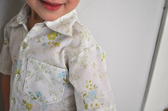 Beautiful shirt made from a vintage sheets!