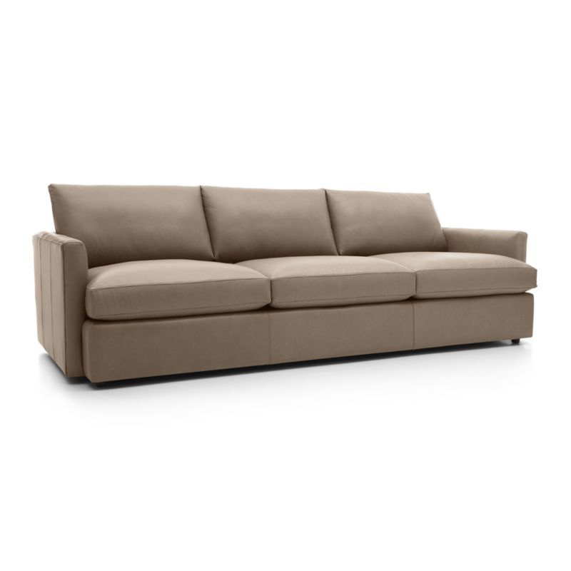 Lounge II Petite Leather 2 Piece Left Arm Double Chaise Sectional Sofa