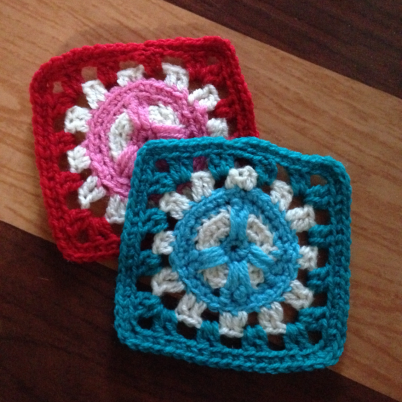 Crochet A Peace Sign Granny Square With Guidecentral Crocheting