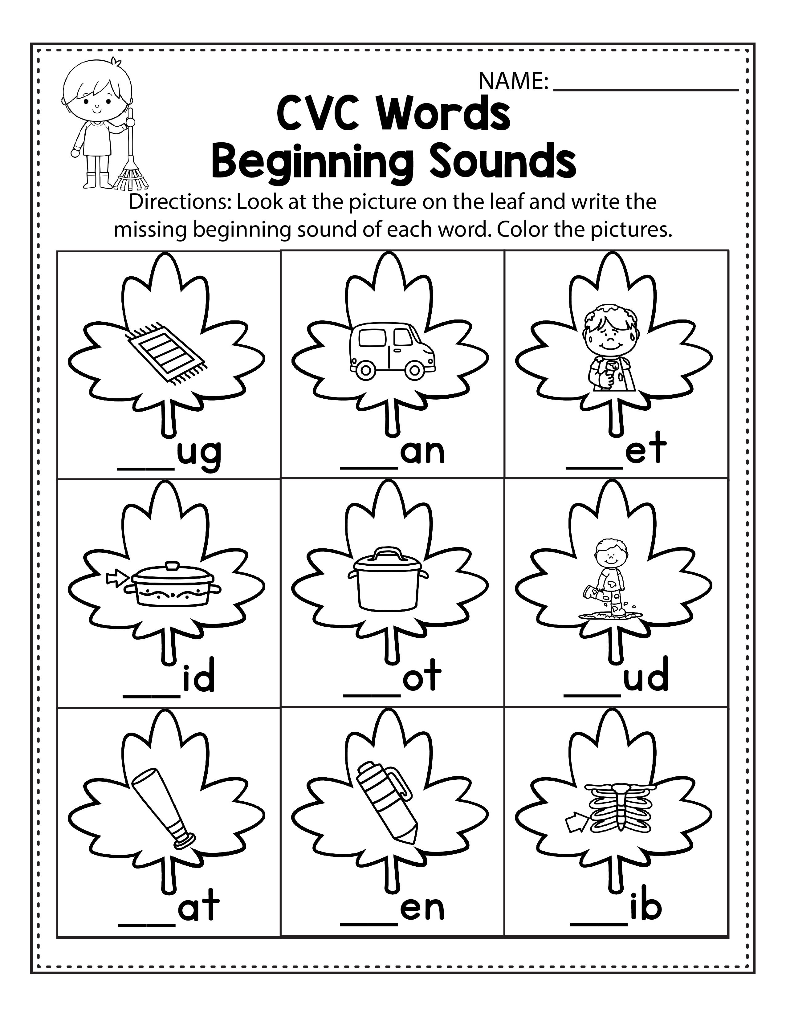 Free Fall Worksheets For Kindergarten In