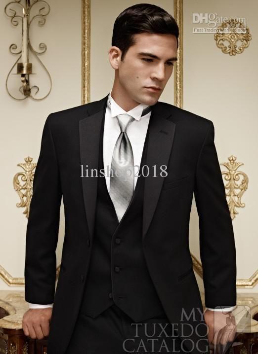 Wholesale - Groom Tuxedos Best Suit Wedding Groomsman Men Suits ...