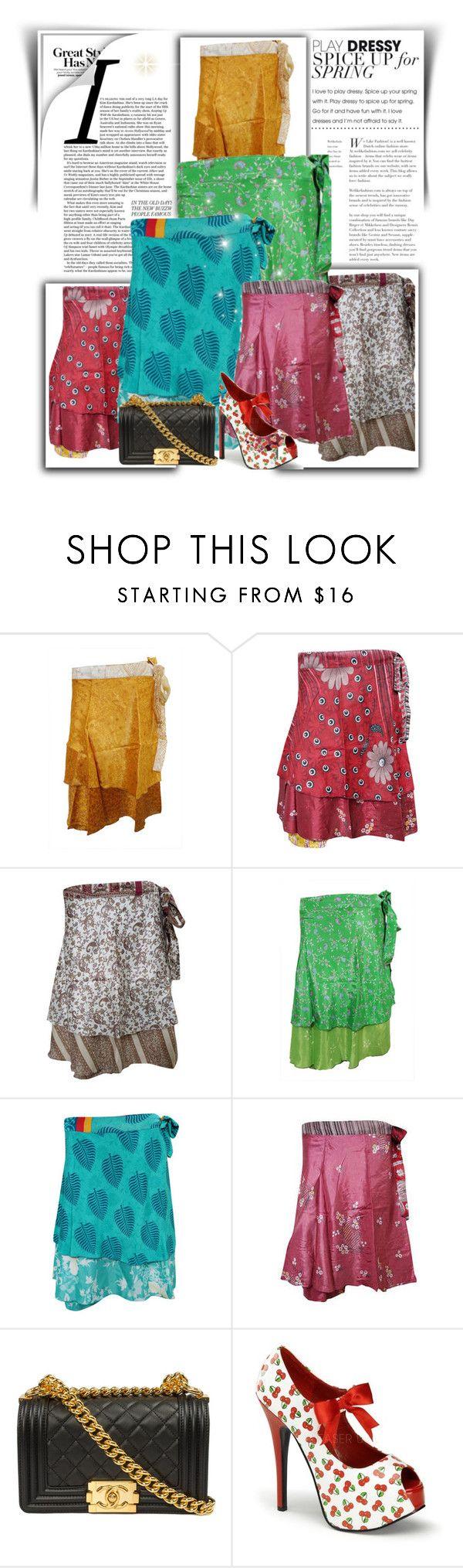 """Boho short wrap skirts"" by moguldesigns on Polyvore featuring skirts, wrapskirt, bohemianskirt and bohoskirt"
