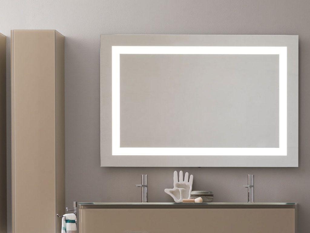 Espejo marco de led espejos para ba os luz led y led for Espejos con iluminacion