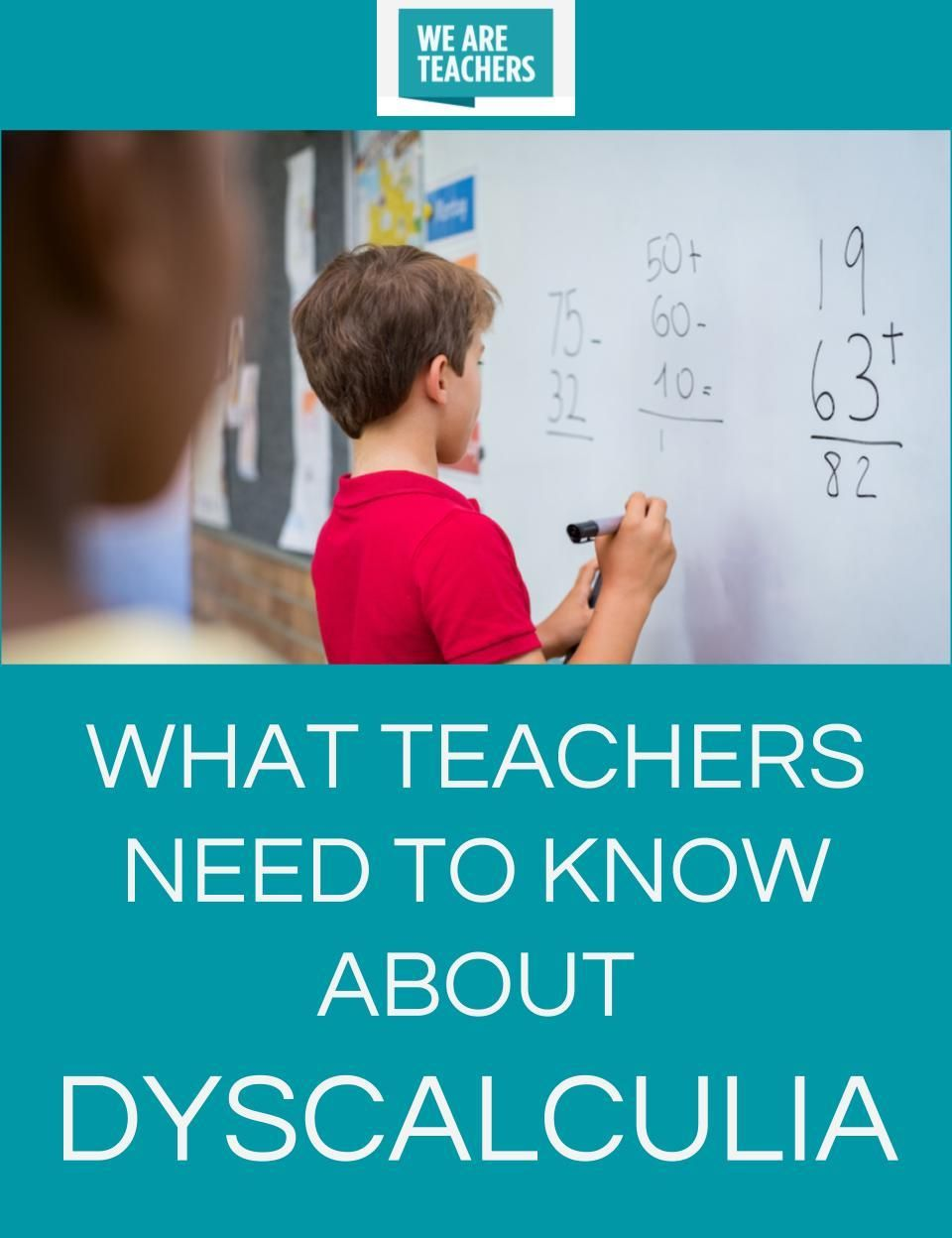 what teachers need to know about dyscalculia | teaching math