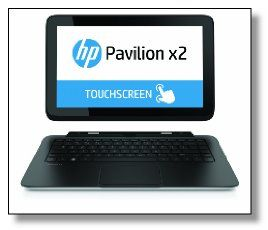 The HP Pavilion x2 11-h010nr Convertible Touchscreen Laptop is a revolutionary notebook that users can turn into a tablet