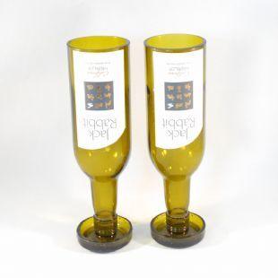 jack rabbit wine glasses x2 recycled glassware pinterest. Black Bedroom Furniture Sets. Home Design Ideas
