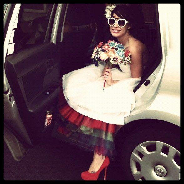 I Love The Rainbow Tulle Underneath The Tea Length Wedding Dress Tea Length Wedding Dress Anna Wedding Dress Wedding Dress Inspiration