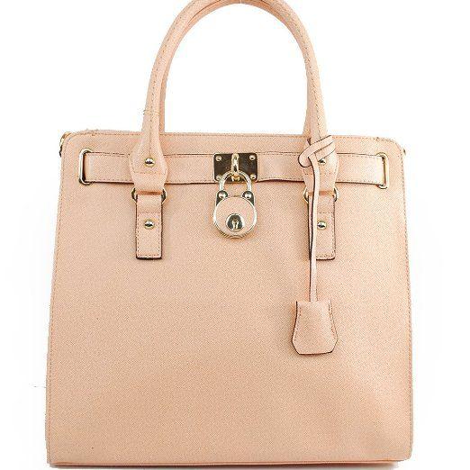 c12678a49fc443 Amazon.com: Mk Designer Inspired Fashion Exotic Hamilton Tote Satchel Lock  Embellishment Saffiano Handbag Purse with Adjustable Shlouder Strap Michael  Kors ...
