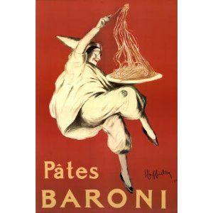 BUITONI gluten noodles Vintage Ad poster Federico Seneca Italy 1928 24X36 hot
