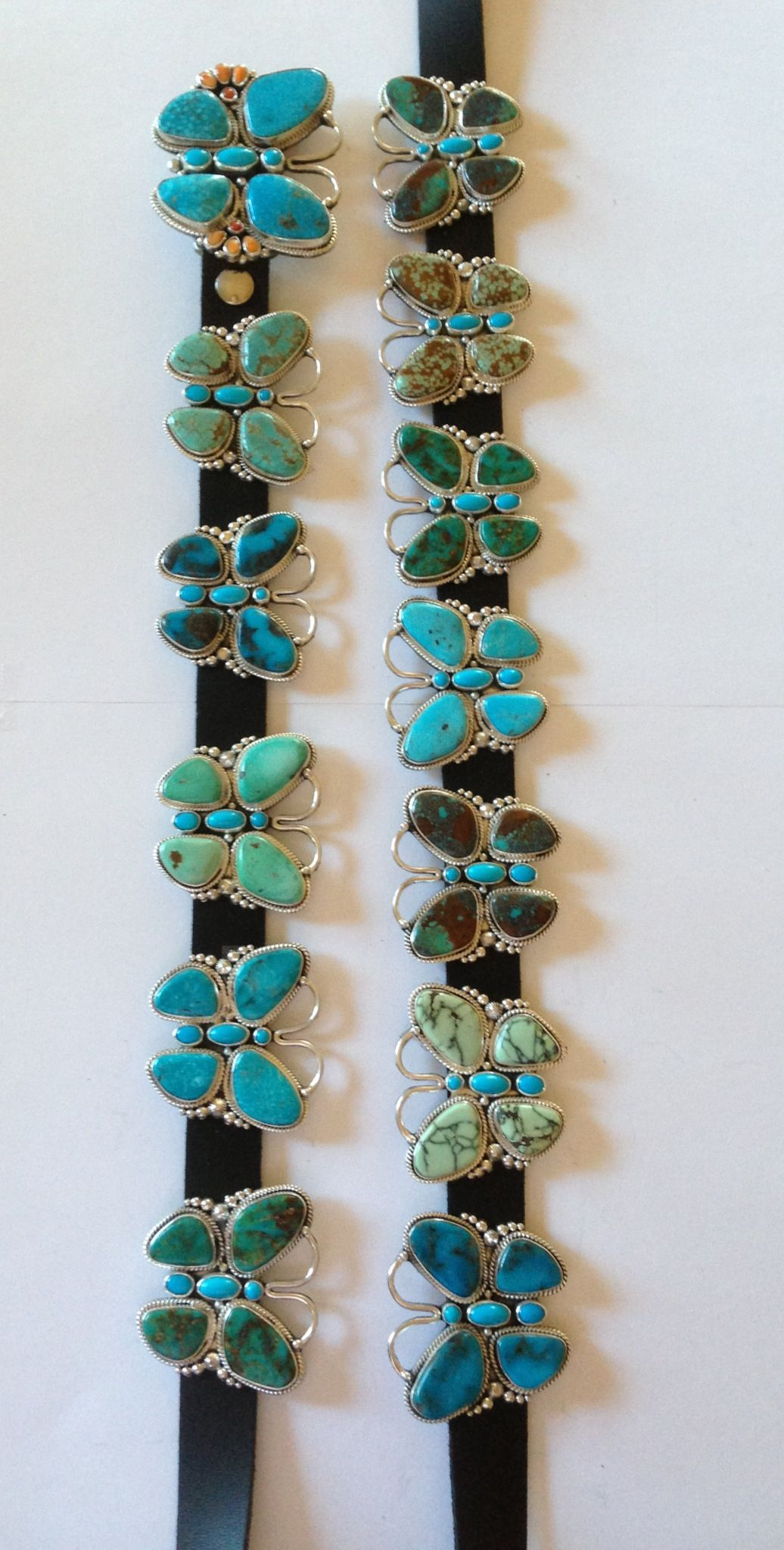 Multi Turquoise Butterfly Concho Belt