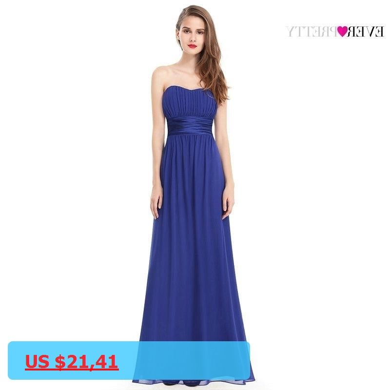 Clearance Sale Ever Pretty Women Elegant Long Bridesmaid Dresses