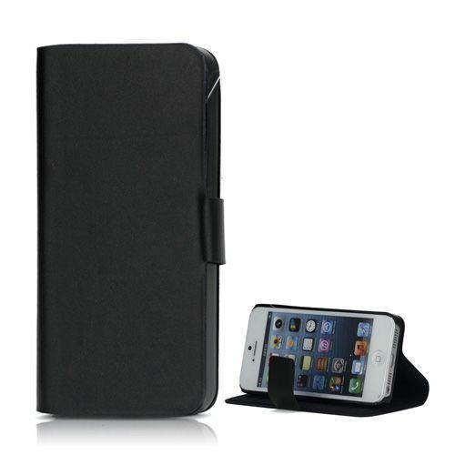 Köp Doormoon Läderplånbok Apple iPhone 5 5S SE svart online  http ... 75a666b32252b