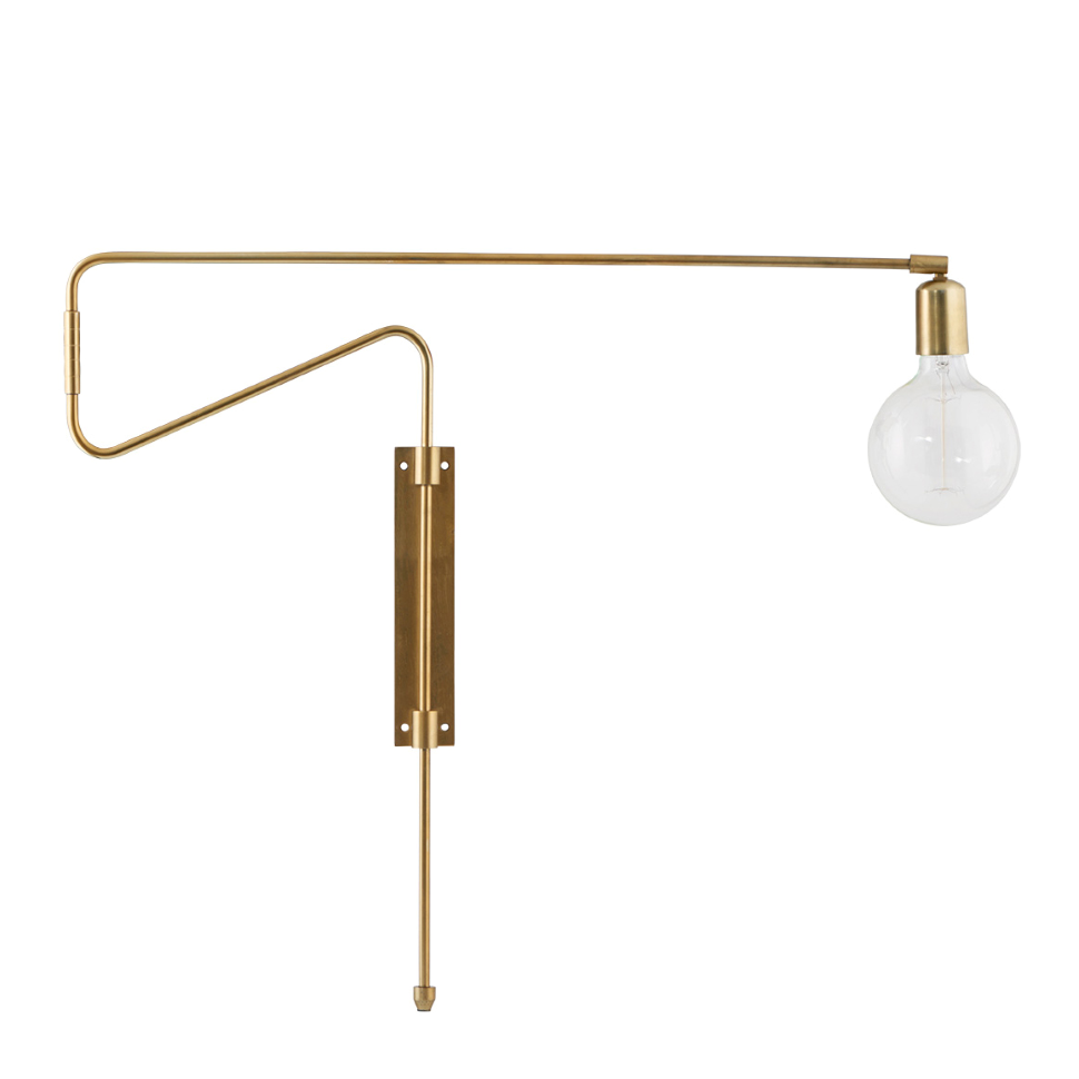 Swing Wall Lamp Brass Large 70 Cm In 2020 Wall Lights Indoor Wall Lights House Lamp