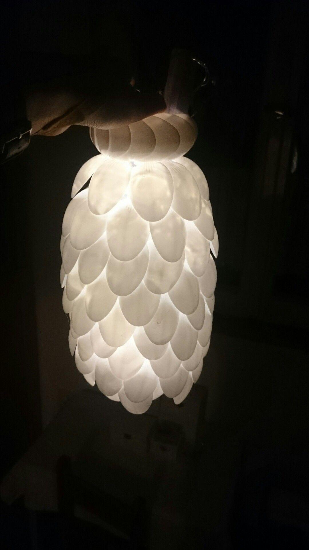 L ffel lampe basteln pinterest basteln l ffel lampe und lampen - Fruhlingsdeko selber basteln ...