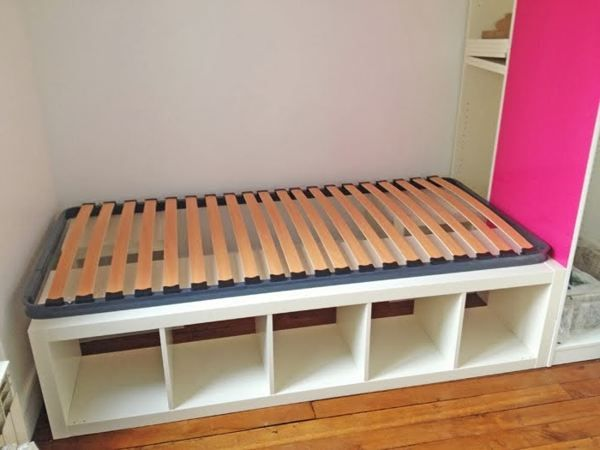 Ikea bed slats hack brooke wyatt room pinterest ikea for Ikea hack plateforme lit