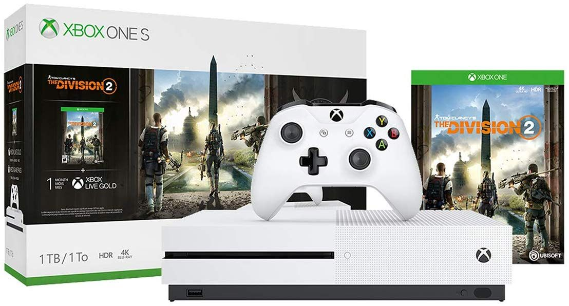 Amazon Com Xbox One S 1tb Console Tom Clancy S The Division 2 Bundle Video Games Xbox One S 1tb Xbox Xbox One S