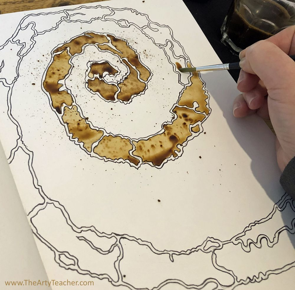 Abstract Coffee Art - Home Learning Activity - The Arty Teacher