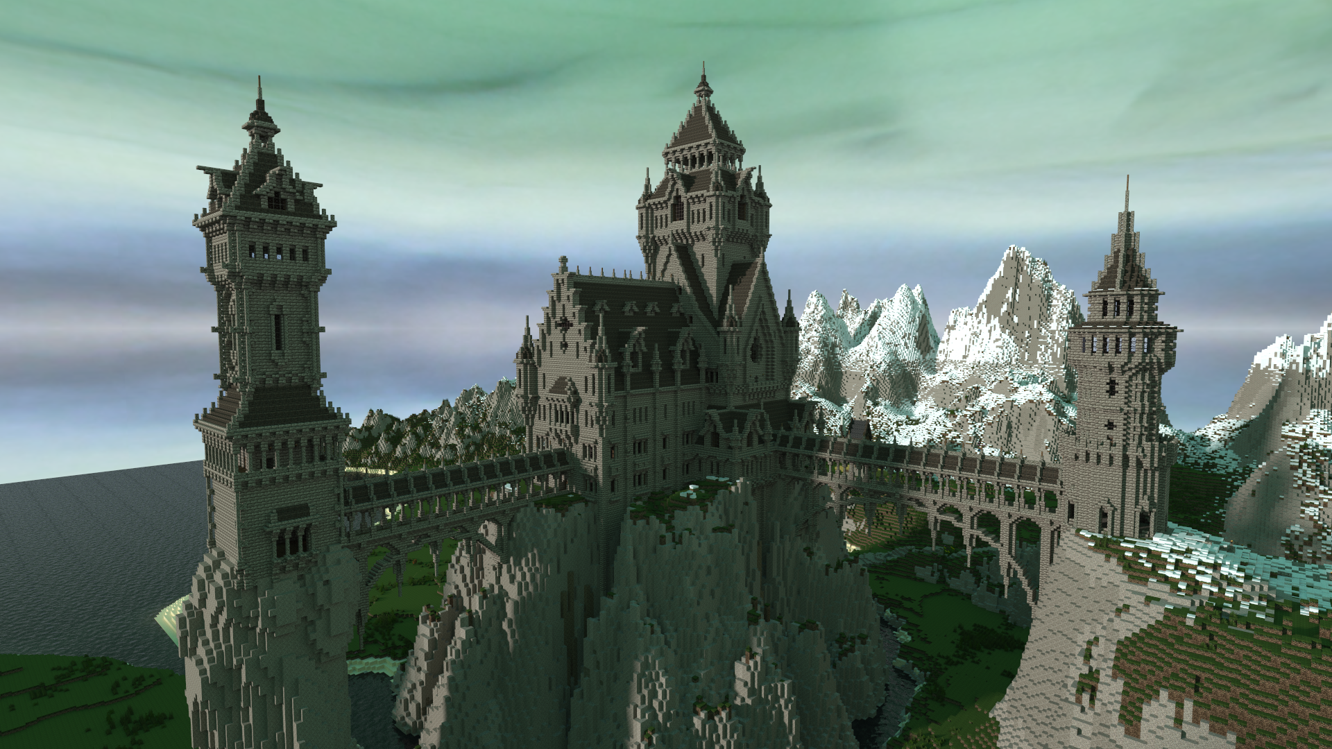 minecraft mountain castle ideas - Google Search ...