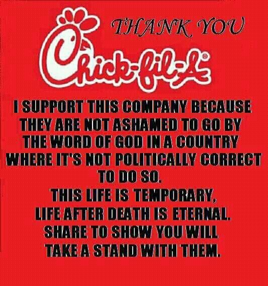 Thank you, Chick-fil-A!!!!!!!!!!!!!!!!