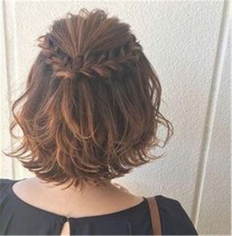 50 Simple Trendiest Braids For Short Hair Braids For Short Hair Hair Styles Short Hair Styles