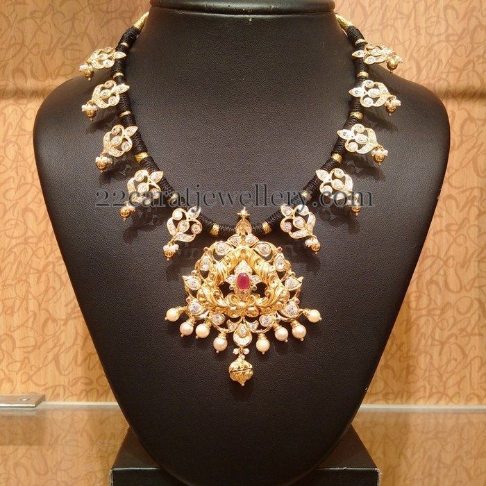 Traditional CZ Necklace by Naj Jewellers | Indian jewelry and ...