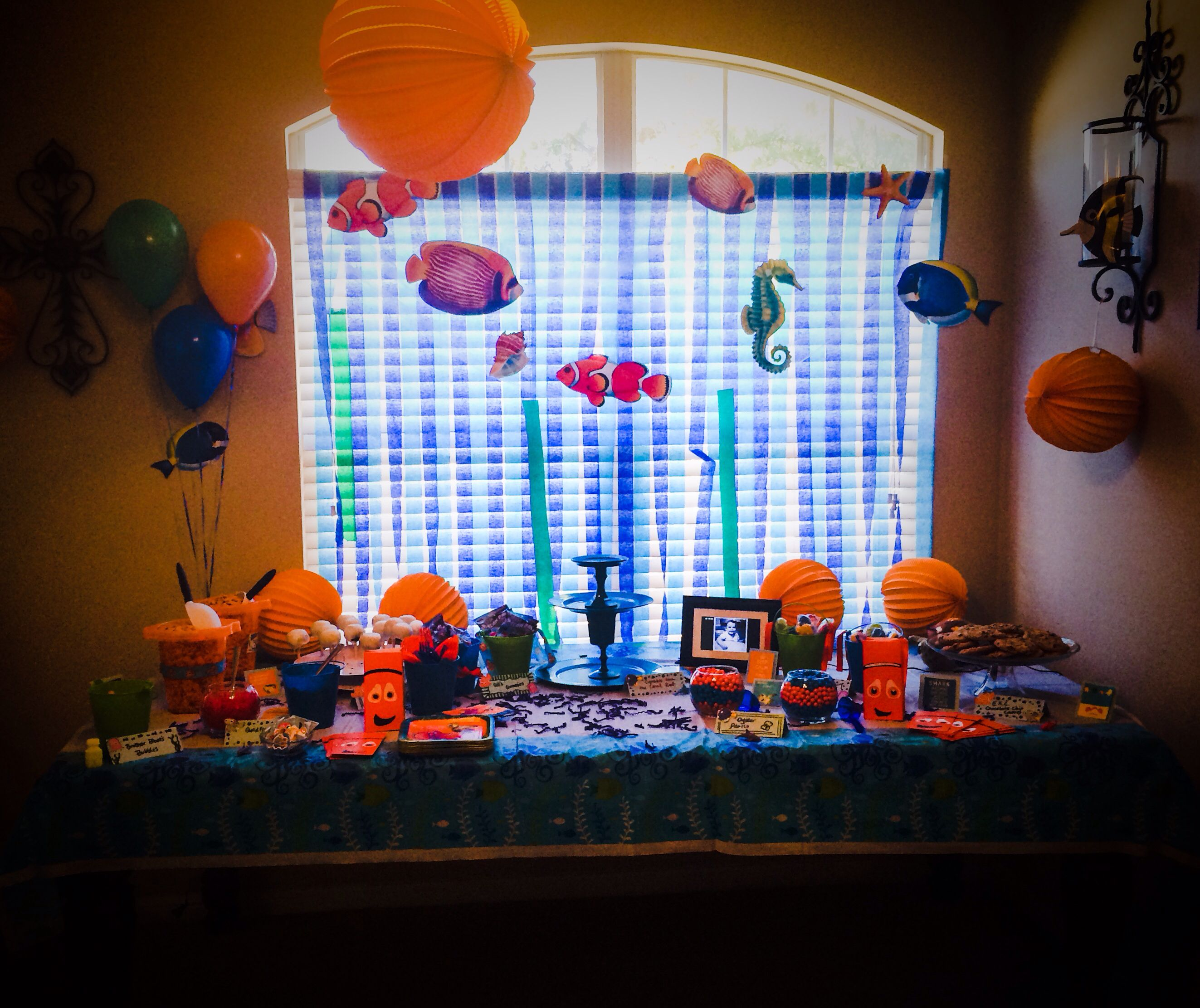 Birthday Party Buffet Table: Elizabeth's 1st Birthday Party