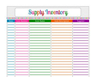 printable inventory list printable blank inventory spreadsheet