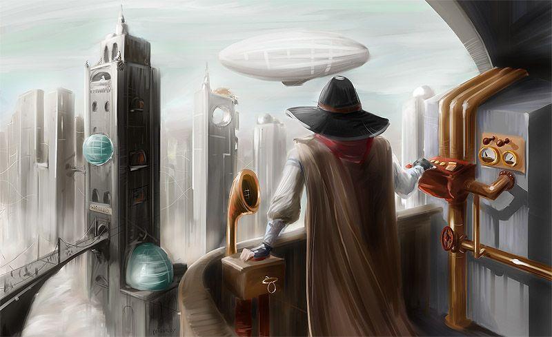 steampunk city by activateru.