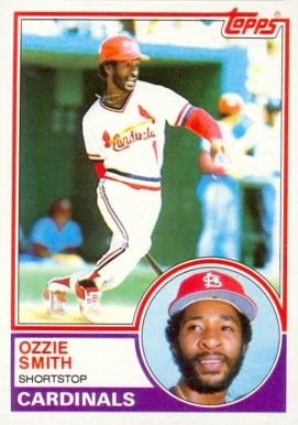 1983 Topps Ozzie Smith 1983 Baseball Card Values