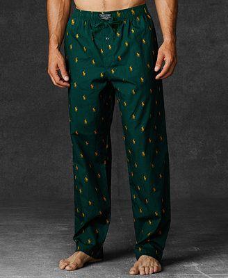 ecde50a976 Polo Ralph Lauren Men s Allover Polo Player Woven Pajama Pants Men - Pajamas