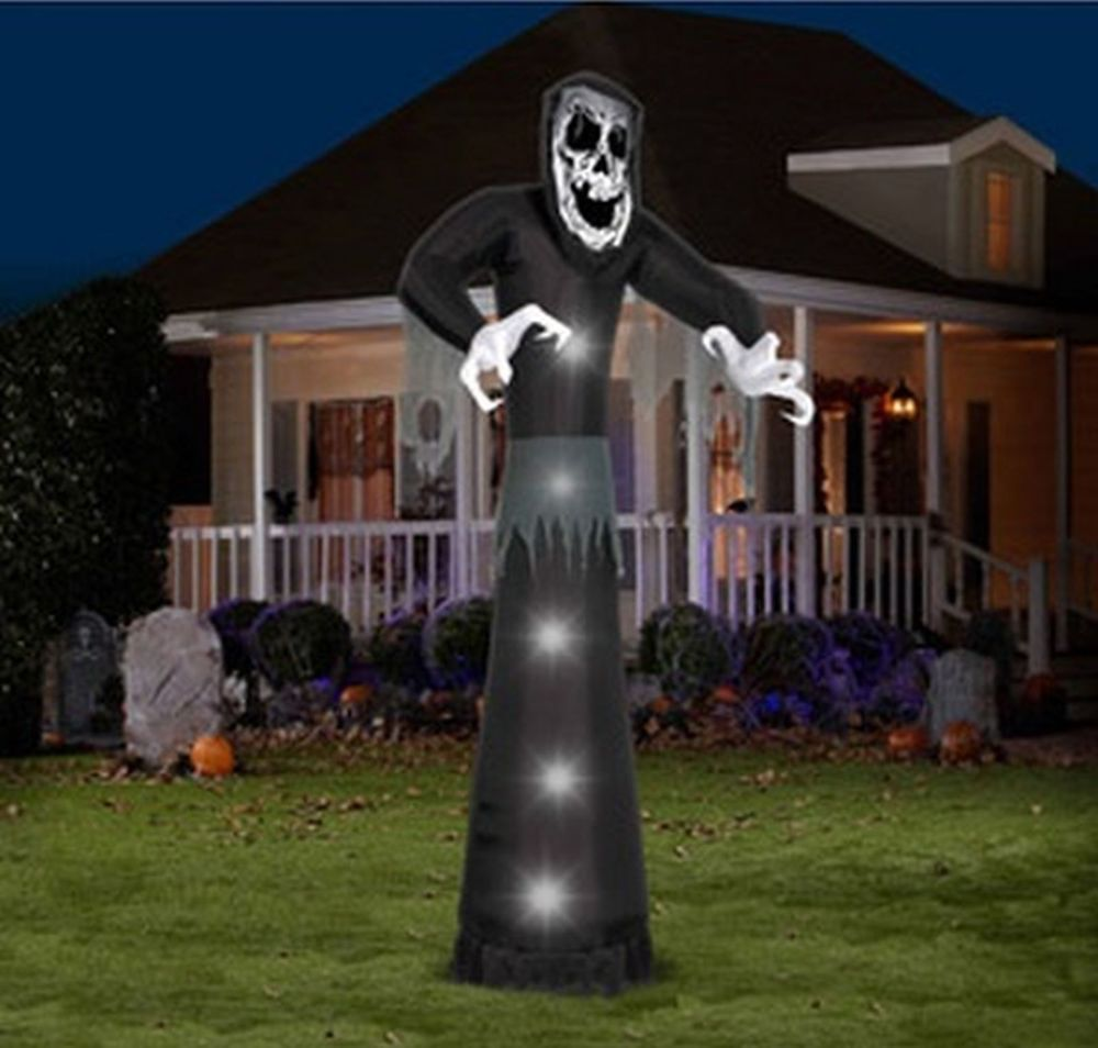 12 airblown inflatable huge skeleton reaper halloween decoration yard prop new 18500 or best offer